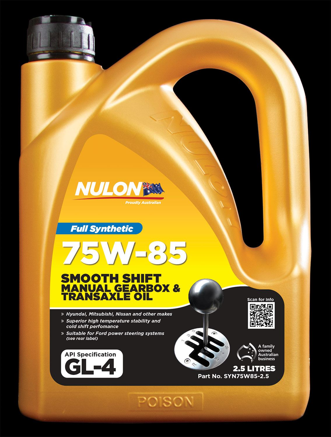 nulon full synthetic smooth shift gear oil 75w85. Black Bedroom Furniture Sets. Home Design Ideas
