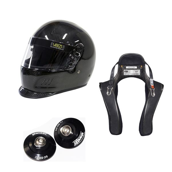 Picture of Velo Carbon Duckbill Helmet HANS Package