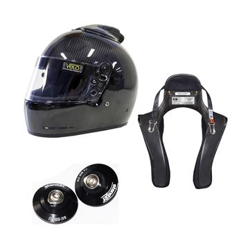 Picture of Velo Carbon Top Forced Air Helmet HANS Package