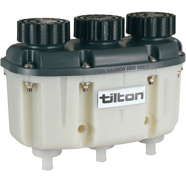 Picture of Tilton 3 Chamber Brake And Clutch Fluid Reservoir - Push On