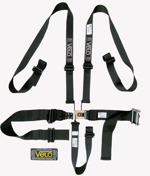 Picture of Velo 5pt Latch Lever FHR SFI Ratchet Waist Harness