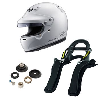 Picture of Arai GP-5W Helmet - Schroth SHR FHR Package